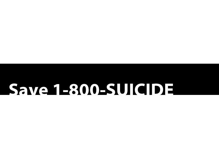 Save 1-800-SUICIDE
