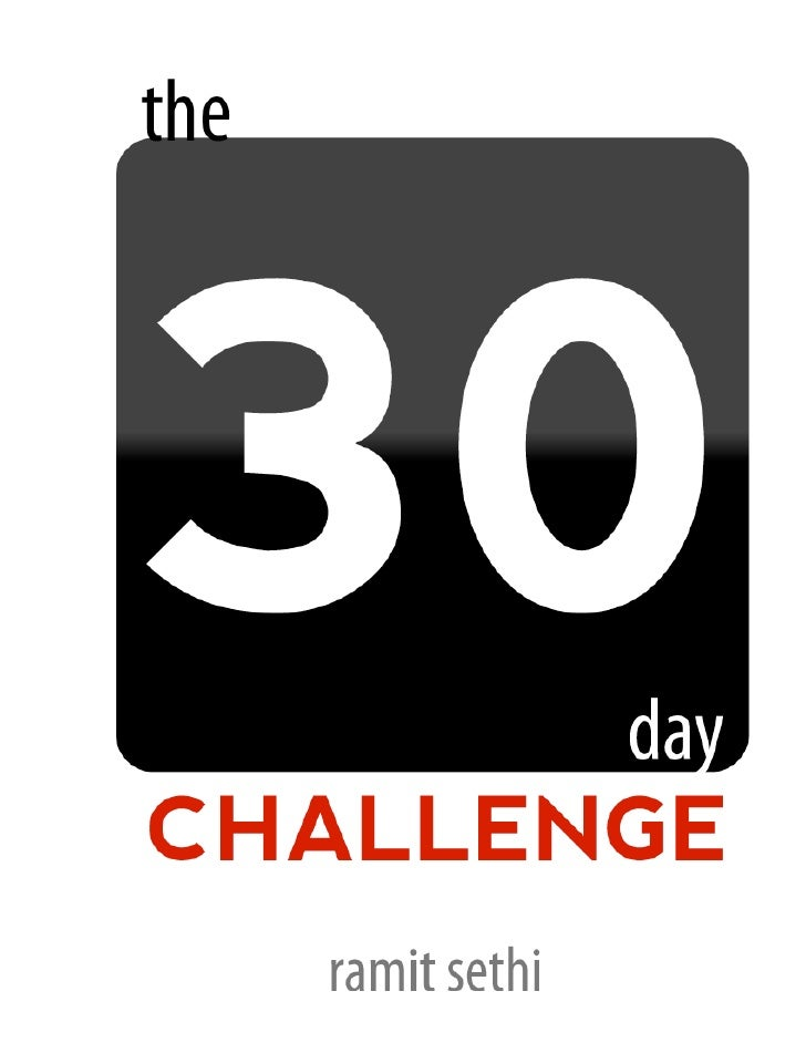 meet the author                                 the 30 day challenge                                          About the au...