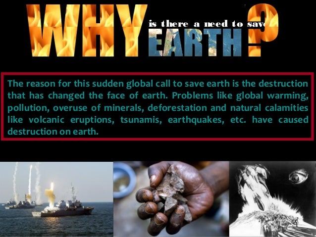 Save earth important Slide 2
