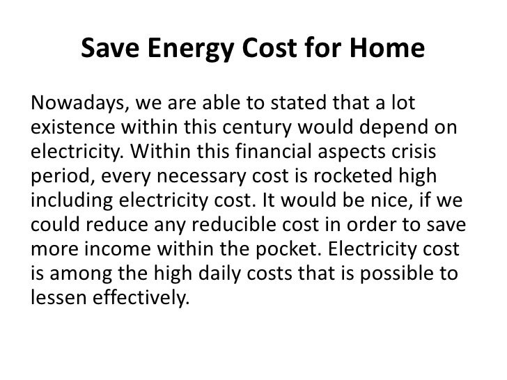 Essay save electricity