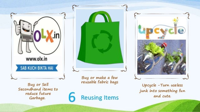 Reduce Items Save Environment Reduce Pollution