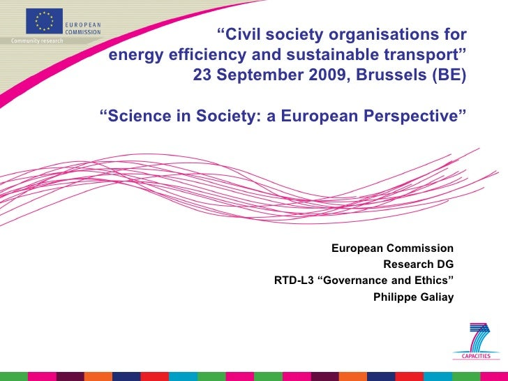 """""""Civil society organisations for  energy efficiency and sustainable transport""""             23 September 2009, Brussels (BE..."""