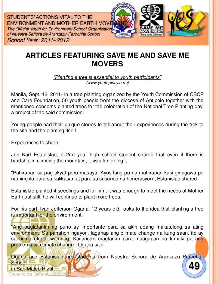 SAVE ME Movement 2012 Documentation