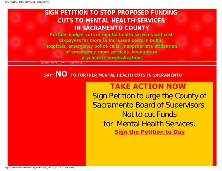 Save Sacramento County Mental Health Services
