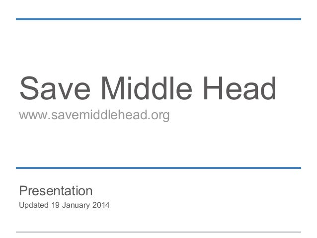 Save Middle Head www.savemiddlehead.org  Presentation Updated 19 January 2014