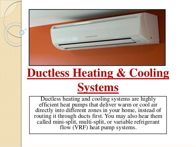Heating And Cooling Systems Ductless Ac