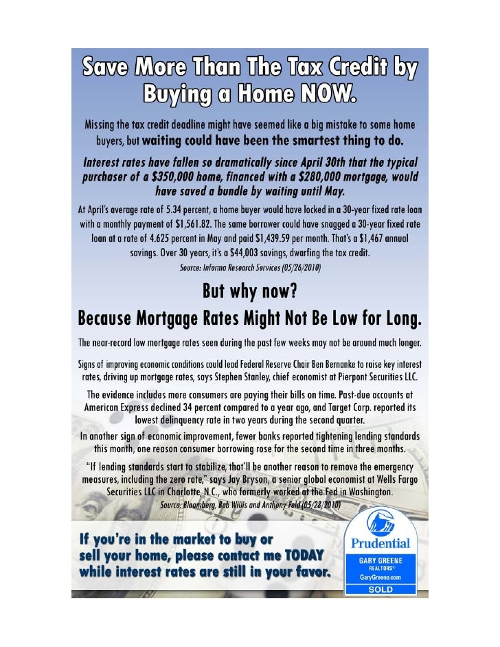 Save More than the Tax Credit!