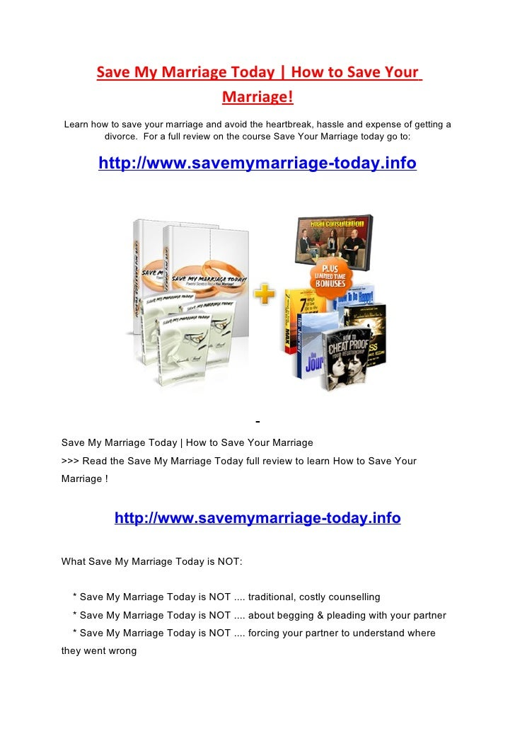 Save My Marriage Today | How to Save Your                       Marriage! Learn how to save your marriage and avoid the he...