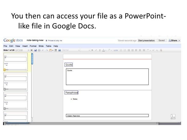 Save PowerPoint To Google Docs - Google docs save
