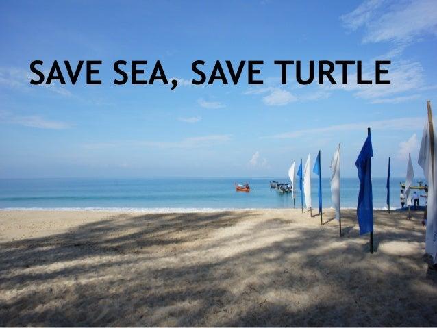 SAVE SEA, SAVE TURTLE