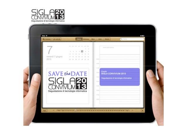Save the date SIGLA Convivium 2013