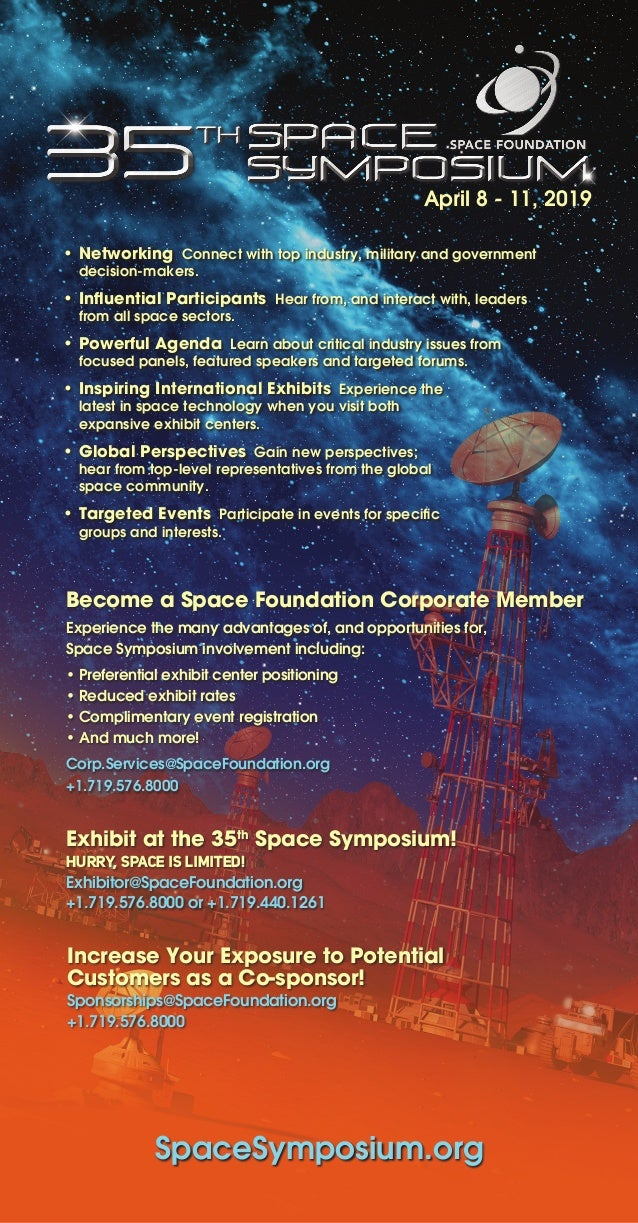 Become a Space Foundation Corporate Member Experience the many advantages of, and opportunities for, Space Symposium invol...