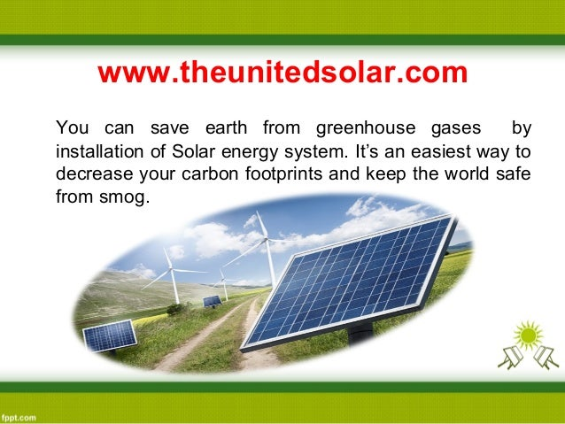 Save The Earth From Greenhouse Gasses By Using Solar Panel