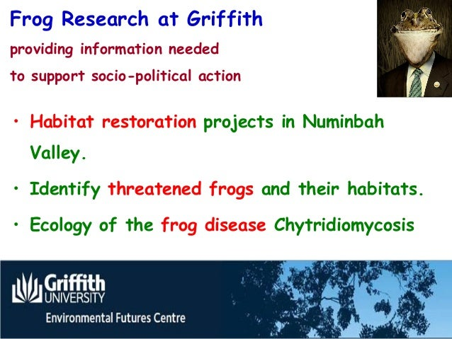 Save the Frogs Day, Professor Hero, Griffith University 2012