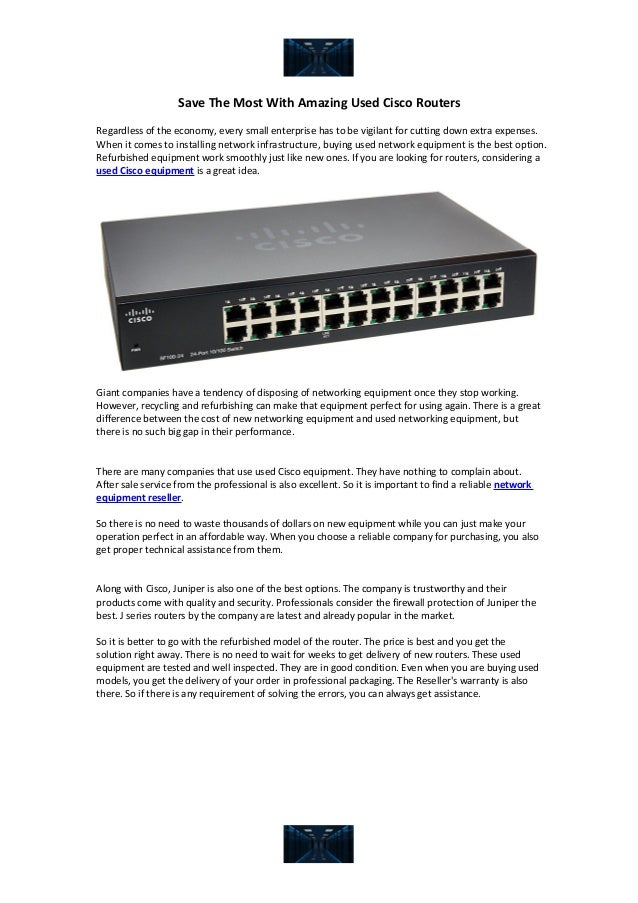 Save the most with amazing used cisco routers