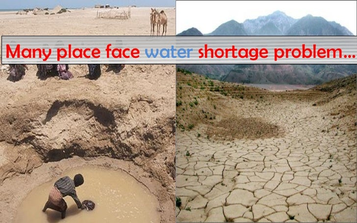 Many place face water shortage problem…