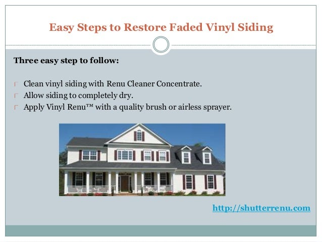 Save Your Fade Shutters With Vinyl Shutter Restoration Kit