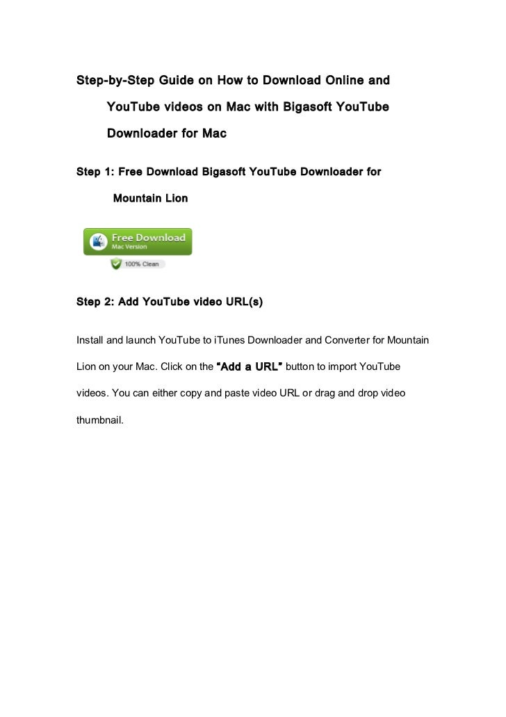 Step-by-Step Guide on How to Download Online and      YouTube videos on Mac with Bigasoft YouTube      Downloader for MacS...
