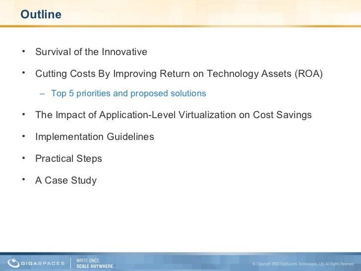 Savig cost using application level virtualization Slide 2