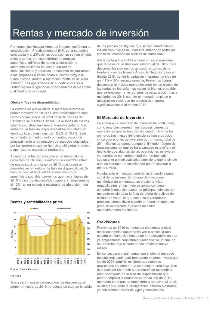 Savills informe mercado oficinas barcelona primavera for Banco pastor oficinas barcelona
