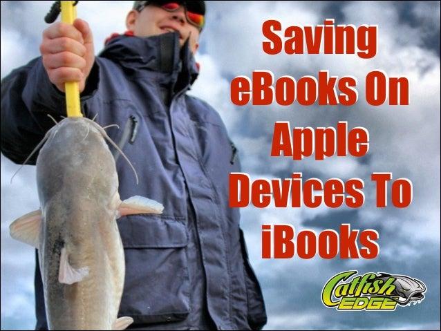 Saving eBooks On Apple Devices To iBooks