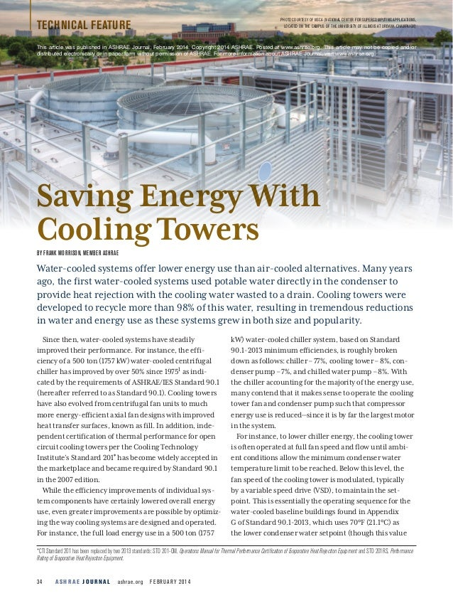 Saving energy with cooling towers