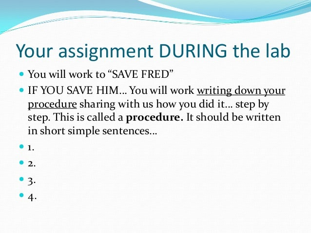 Saving Fred Saving Fred Experiment Saving Fred Worksheet #21