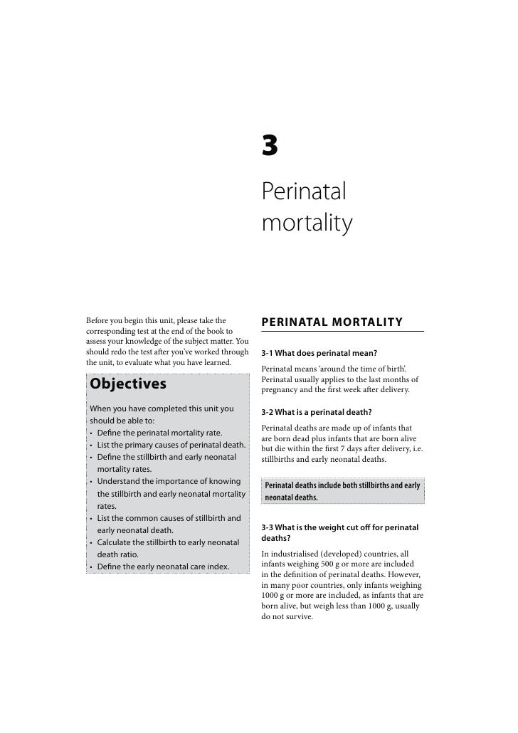 3                                                   Perinatal                                                   mortalityB...