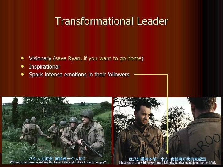 saving private ryan leadership