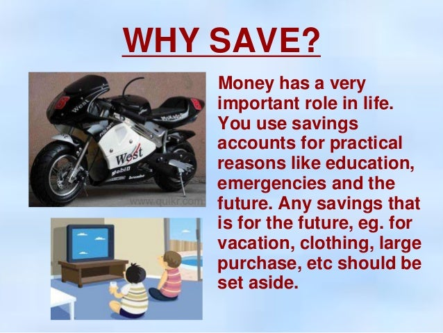 the importance of saving money for retirement This is great - but makes it even more important to put saving on to the radar as your healthy ways are likely to promote longevity, meaning you are likely to live longer and have more years to provide for yourself post retirement.