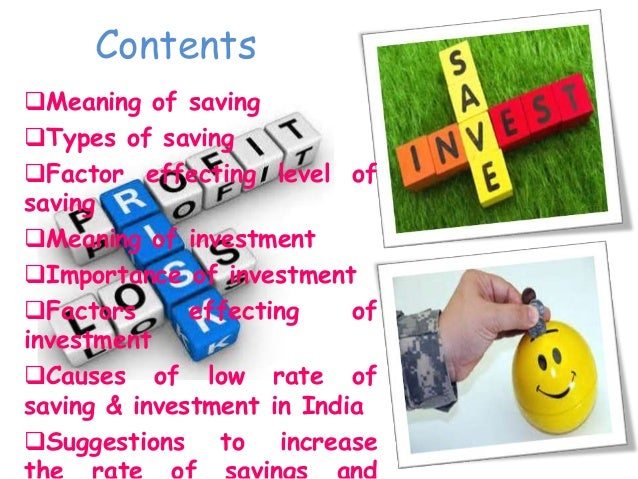 Savings and investment Slide 2