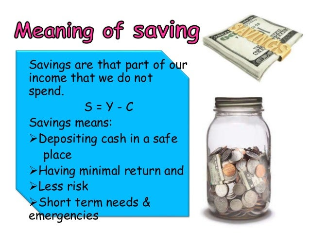 Savings and investment Slide 3