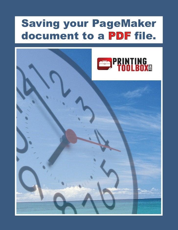 Pagemaker Tutorial Pdf