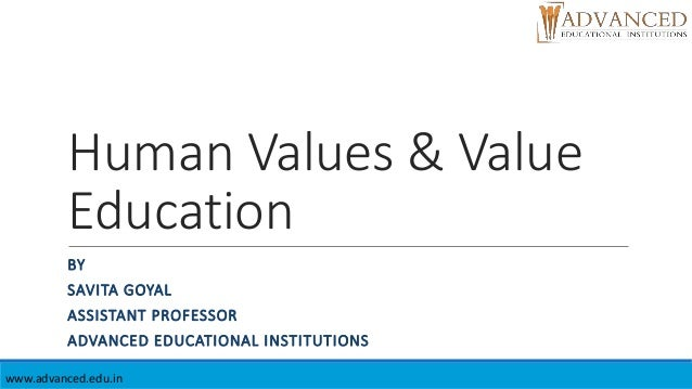 education in human values