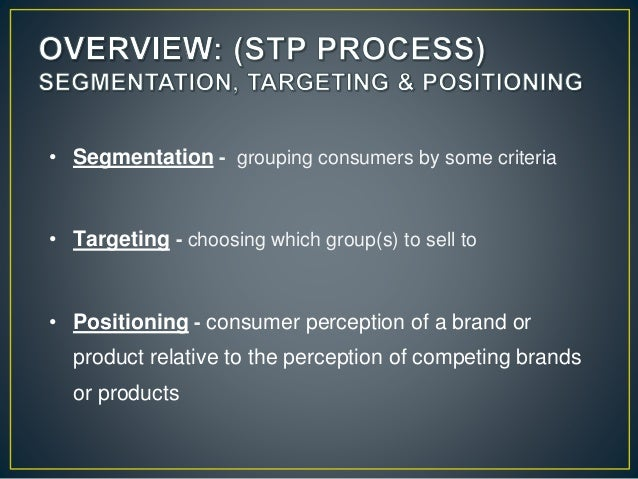 argos segmentation targeting and positioning stp The first step of stp is segmentation  proper segmentation, targeting and positioning is for effective marketing  a non-profit organization called argos.