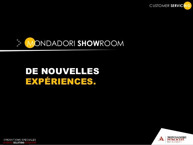 CUSTOMER SERVICING MONDADORI SHOWROOM DE NOUVELLES EXPÉRIENCES. BUSINESS SOLUTIONS MONDADORI