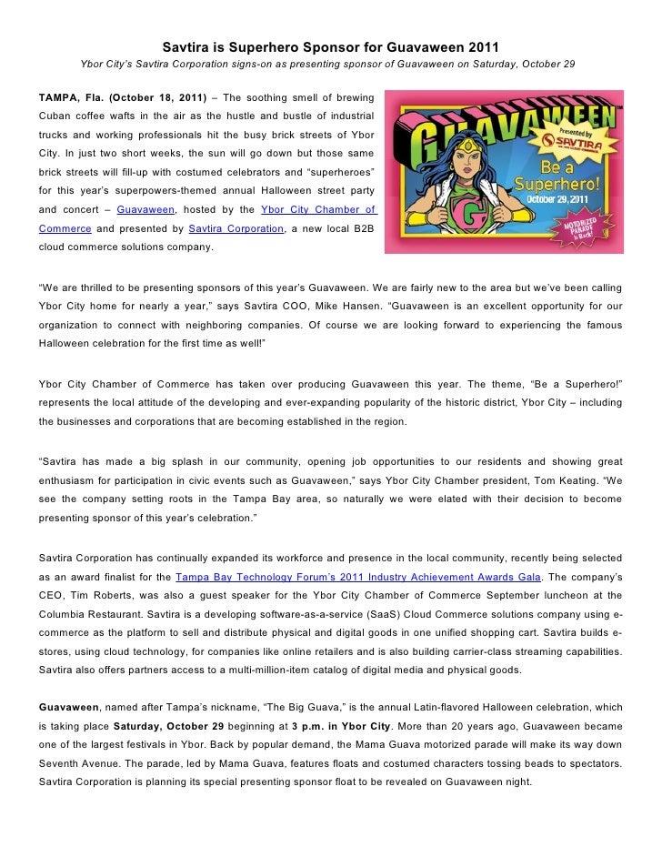 Savtira is Superhero Sponsor for Guavaween 2011