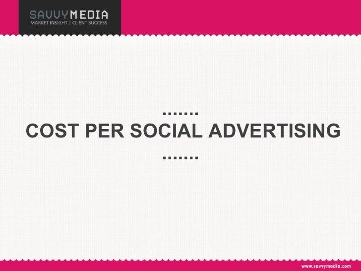 .......  COST PER SOCIAL ADVERTISING .......