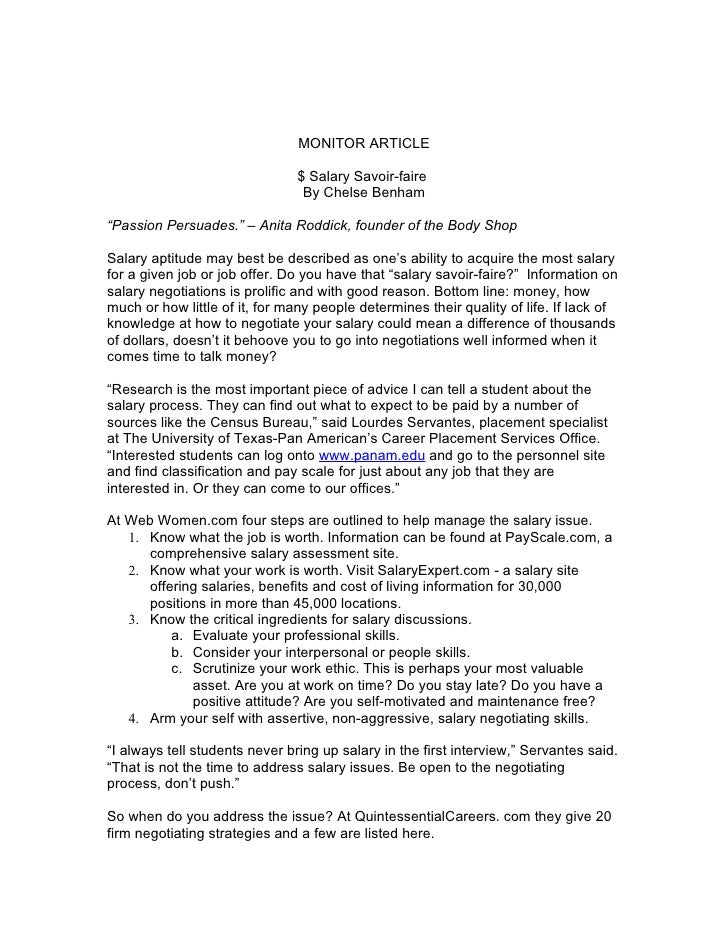Salary Negotiation Letter To Employer.Savvy Salary Negotiating