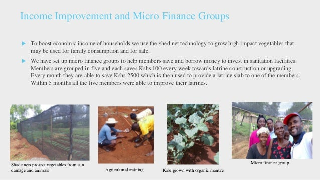Project Achievement After Project  97% of the village households have functional latrines  Advocacy for sanitation has m...