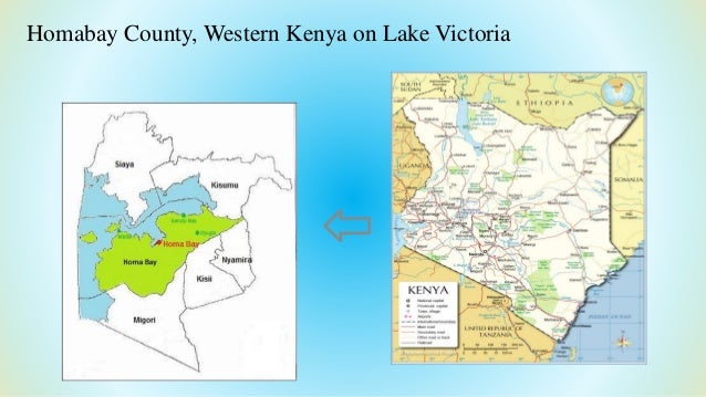 ⇦ Homabay County, Western Kenya on Lake Victoria