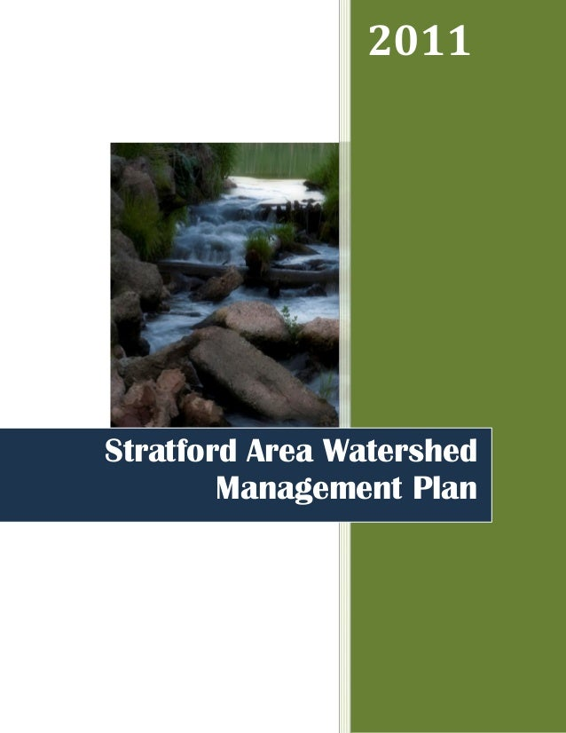 2011Stratford Area Watershed        Management Plan