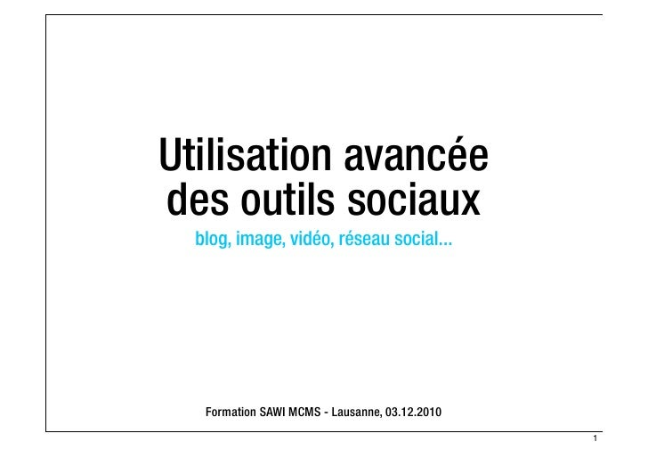 SAWI MCMS - Techniques avancées des outils sociaux