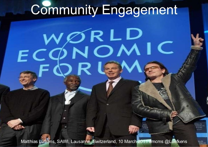 Community Engagement Matthias Lüfkens, SAWI, Lausanne, Switzerland, 10 March 2011 #mcms @Luefkens