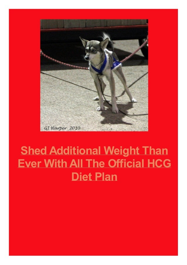 Shed Additional Weight Than Ever With All The Official HCG Diet Plan