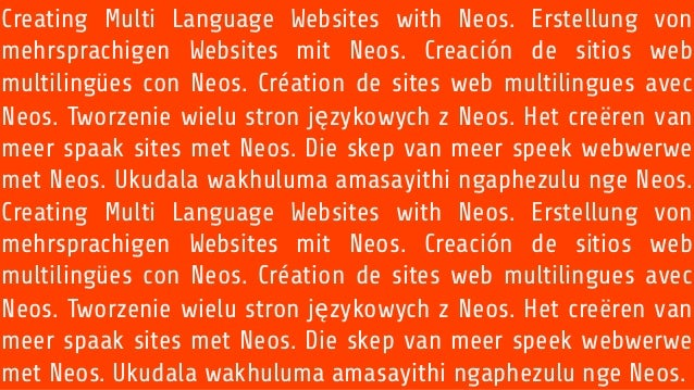 Creating Multi Language Websites with Neos. Erstellung von mehrsprachigen Websites mit Neos. Creación de sitios web multil...