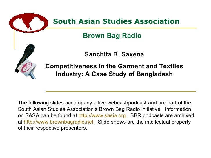 South Asian Studies Association Brown Bag Radio The following slides accompany a live webcast/podcast and are part of the ...