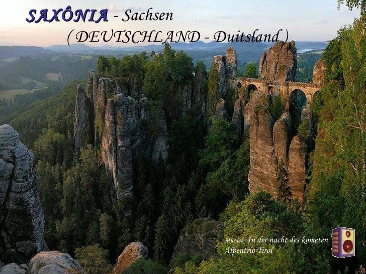 SAXÔNIA  - Sachsen  ( DEUTSCHLAND - Duitsland ) Muziek - In der nacht des kometen Alpentrio Tirol