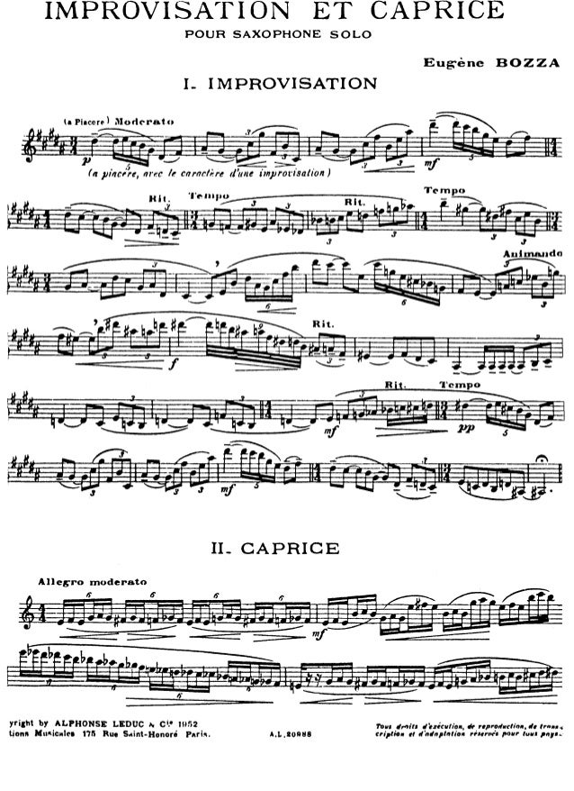 improvisation et caprice presentation Improvisation et caprice (saxophone solo) - having won many prizes at the paris conservatoire during the 1920s-1930s, eugène bozza went on to conduct the orchestra of the op&eacutera-comique and to become head of the conservatoire in valenciennes.