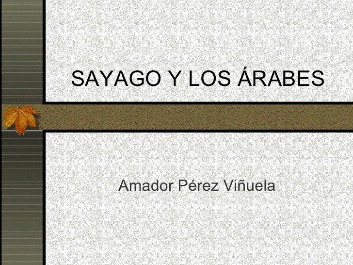 SAYAGO Y LOS ÁRABES Amador Pérez Viñuela